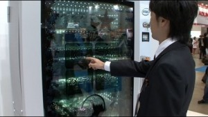 Clever Concept Vending Machine with See-Through Display