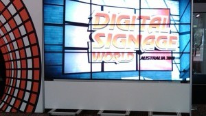 Digital Signage World video wall at entrance