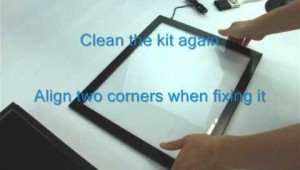 Weekend Fun: How to install a multi touch screen with overlay kit