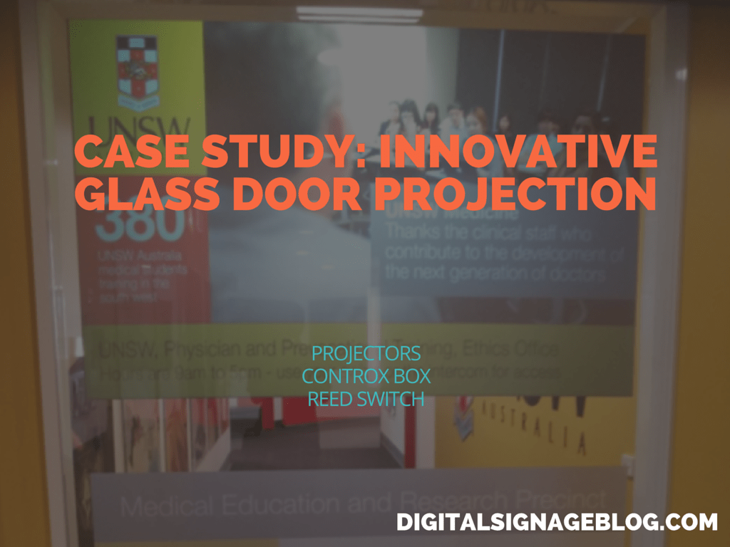 CASE STUDY- INNOVATIVE GLASS DOOR PROJECTION