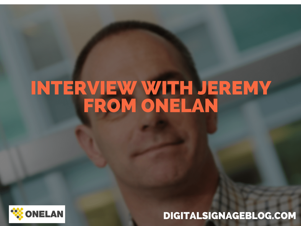 INTERVIEW WITH JEREMY FROM ONELAN