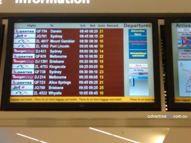 digitalsignage adelaide airport1