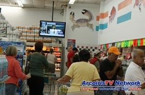 Digital Signage Supermarket in Miami Florida USA