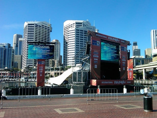 fifa world cup led screens darling harbour