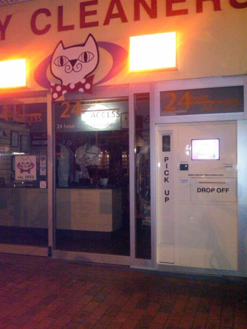 dry cleaners kiosk digital signage