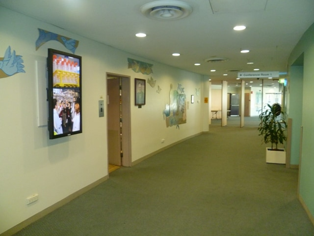 digital signage hospital conference room