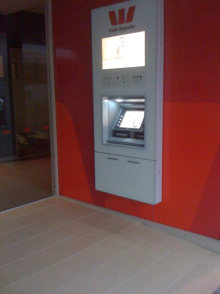 Westpac ATM digital signage