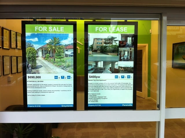bach real estate digital signage