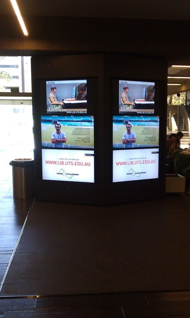 uts digital signage video wall