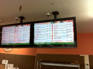 digital signage menu board pizza take away 3