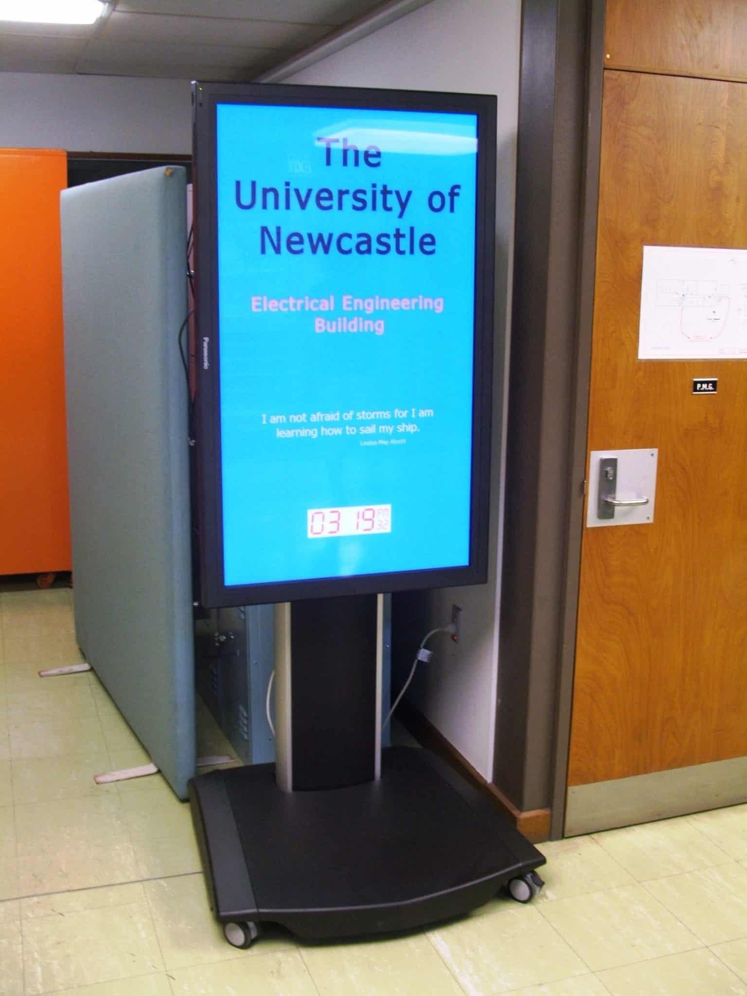 University of Newcastle Digital Signage