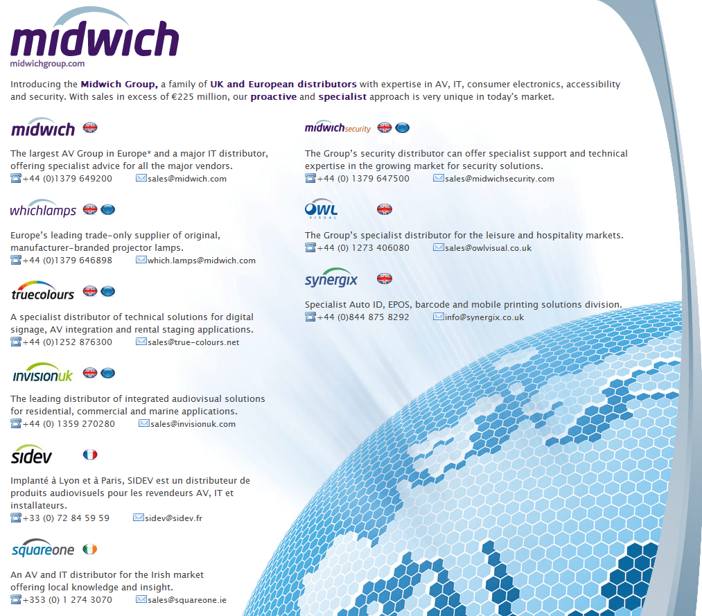 The Midwich Group website