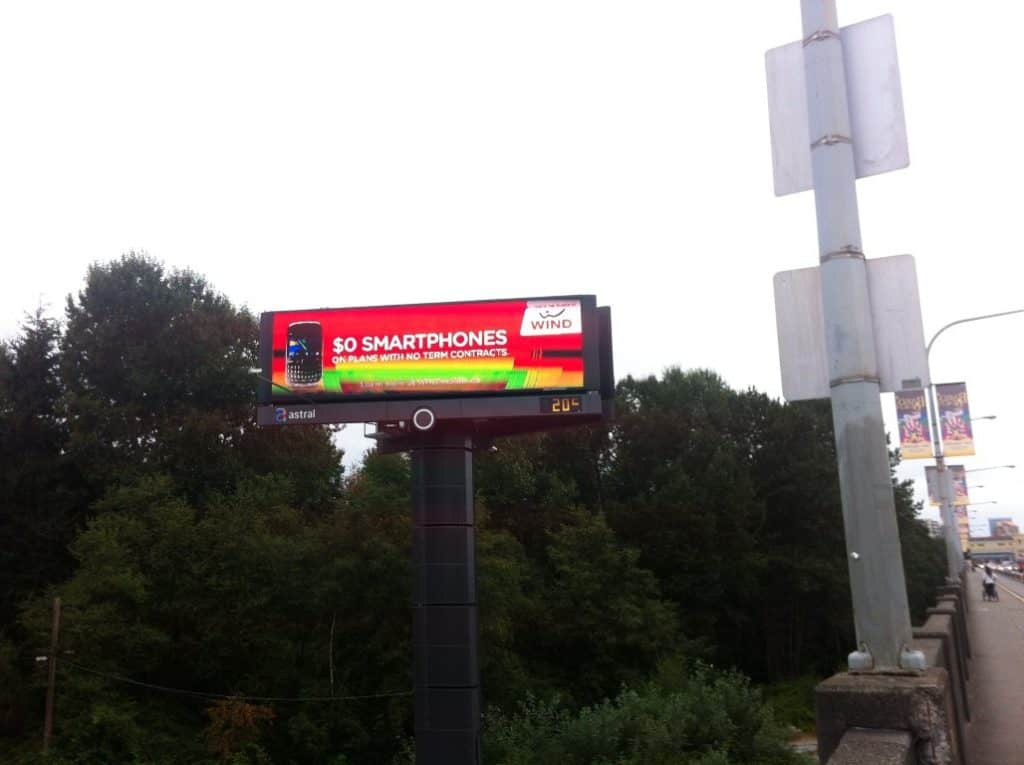 digital signage street