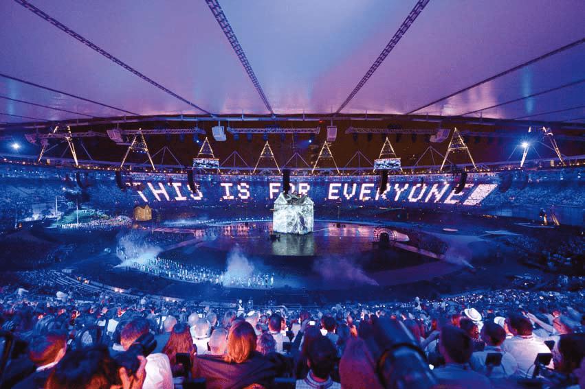 london olympics projectors