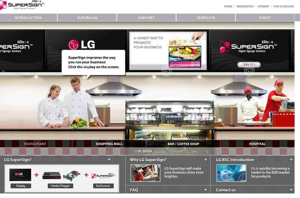 SuperSign Homepage