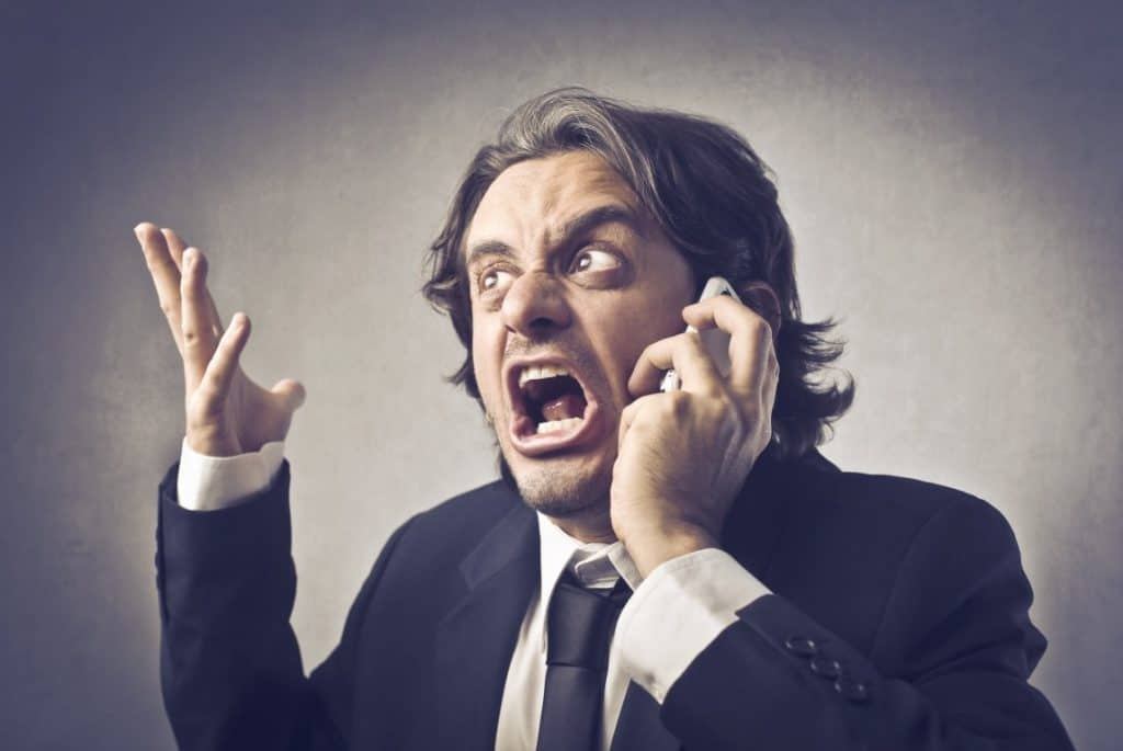 bigstock Angry businessman screaming on
