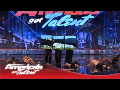 digital signage and dance on americas got talent 20131
