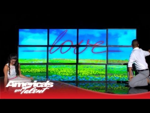 tellavision visual display and dance part 2 on americas got talent 2013
