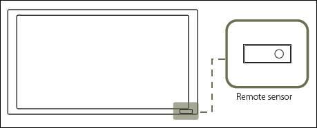 remote sensor position