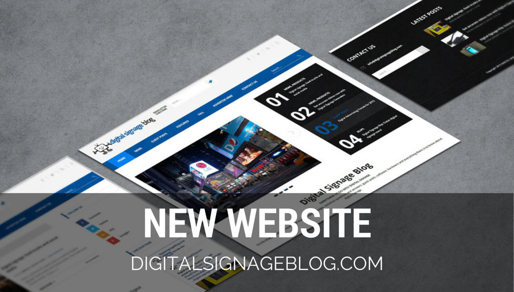 Digital Signage Blog New Website