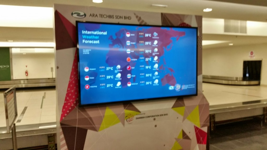 Digital Signage Malaysia Airport Weather Forecast