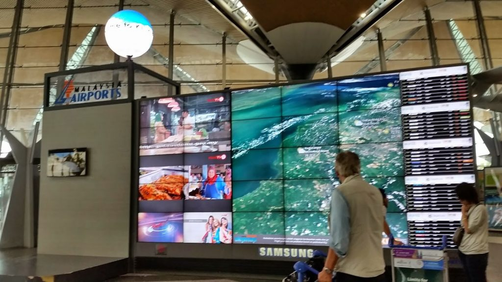 Digital Signage Malaysia Video Wall Airport