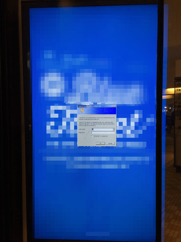 Digital Signage Fail Mapped Drive