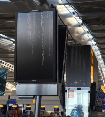 Digital Signage Fail - Lets Fly Away 3