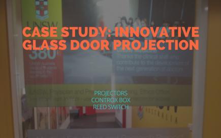 CASE STUDY- INNOVATIVE GLASS DOOR PROJECTION