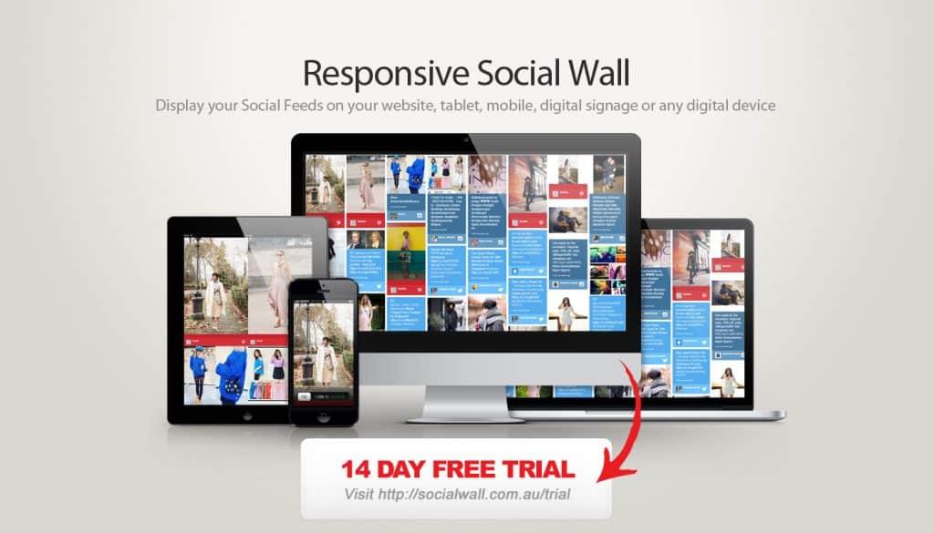 Social Wall Responsive