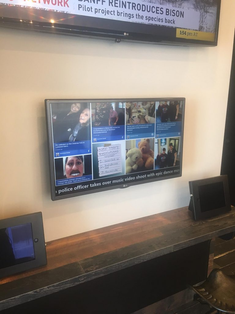 Social Wall HomeTown Dental Digital Signage