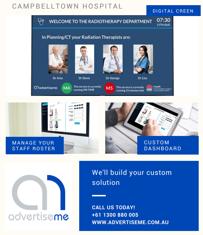 Digital Signage Blog - Digital Medical Board by Advertise Me