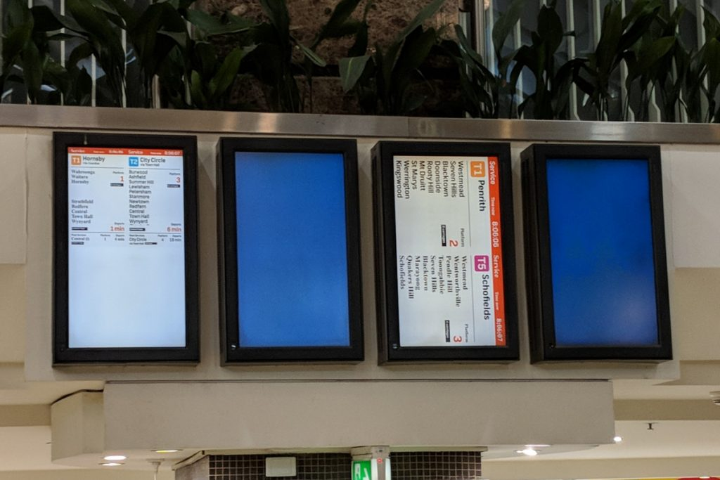 Digital Signage Blog - Fail Train Timetable