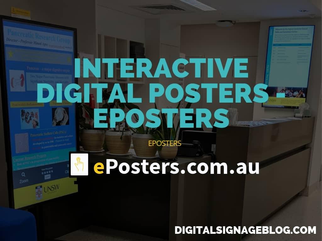 INTERACTIVE DIGITAL POSTERS - EPOSTERS