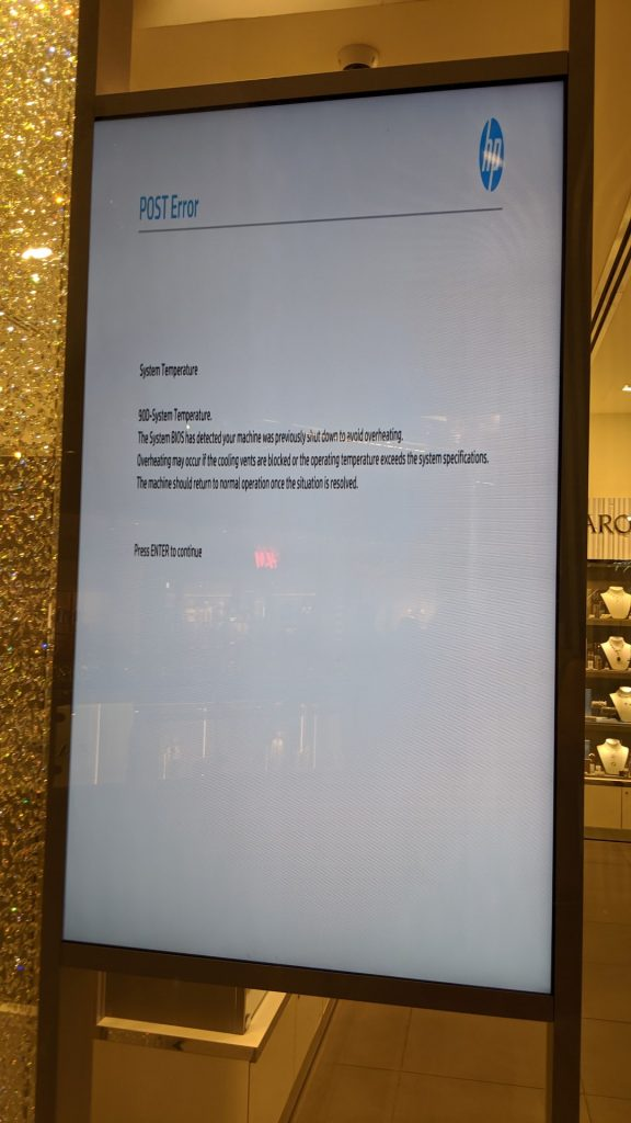 Digital signage blog - DIGITAL SIGNAGE FAIL - OVERHEATING ISSUES