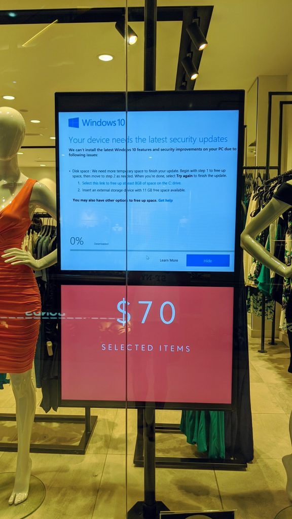 Digital Signage Blog - Fail Windows 10 Updates