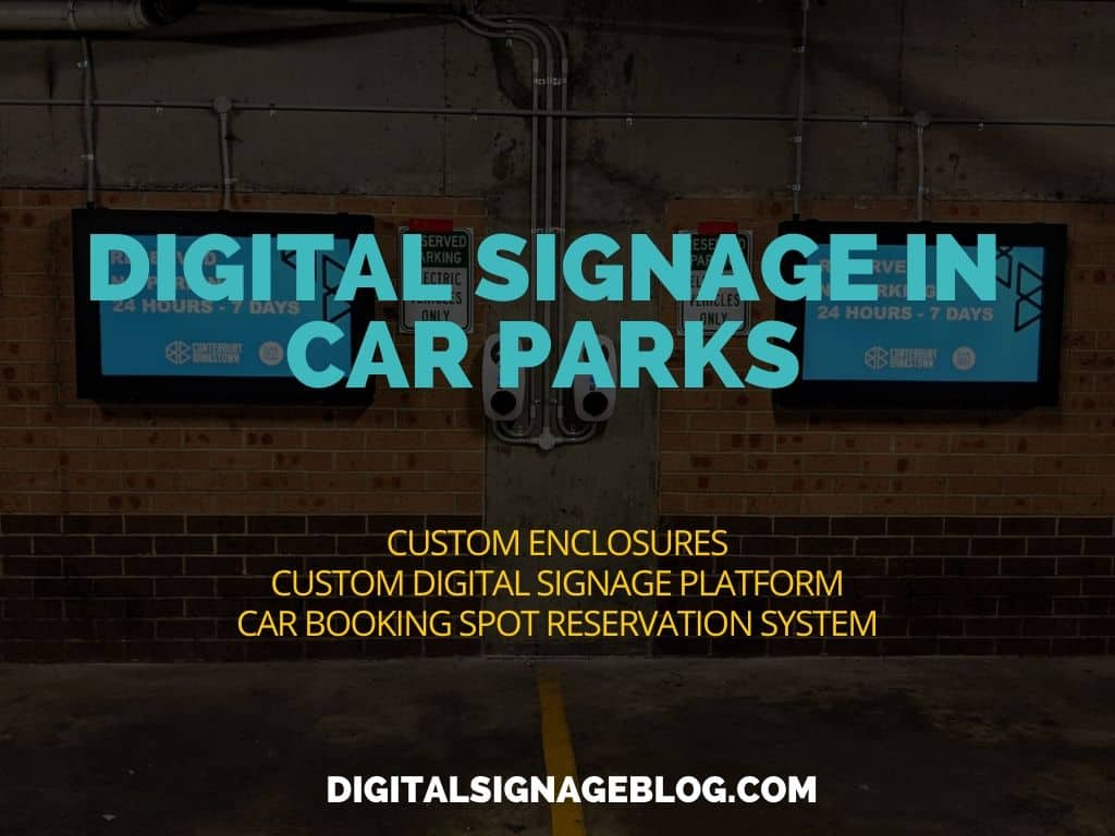 Digital Signage Blog - Digital Signage Solution Car-park module City Canterbury Bankstown Council. header